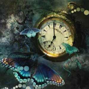 Reloj y mariposa