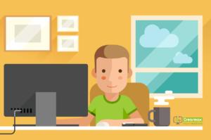 Informático trabajando en Servicios Informáticos para Empresas