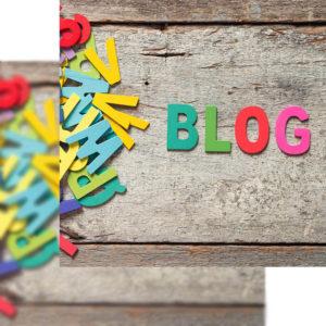 Palabra Blog sobre fondo de madera