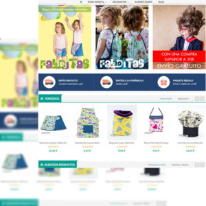 Captura de página web de venta online diseñada con Prestashop
