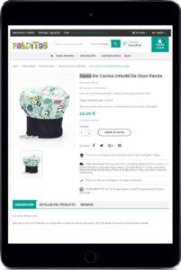 Tablet con imagen de una página web de diseño responsive