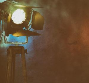 Foco de luz para la filmación de vídeos