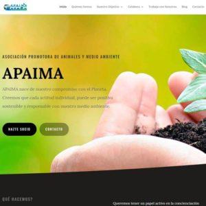 Captura de página web de Apaima como ejemplo de web para Asociaciones