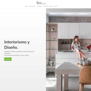 Captura de web de Instaltraver como ejemplo de diseño de página web de Interiorismo y reformas
