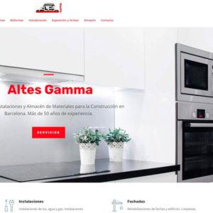 Captura de página web de Altés Gamma como ejemplo de one web