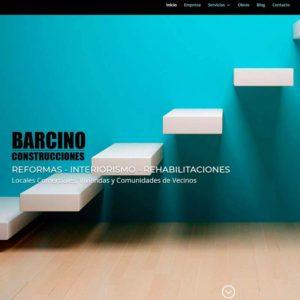 Captura de página web la empresa Barcino Construcciones como ejemplo de diseño web para empresa de reformas
