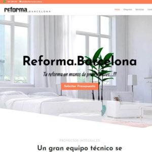 Captura de página web de Reforma.Barcelona como ejemplo de diseño de páginas web en Barcelona
