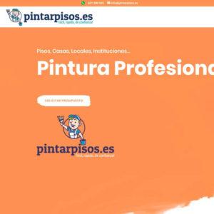 Captura de web de Pintar Pisos como ejemplo de diseño web sencillo para servicios y profesionales