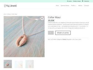 Captua de página web de tienda online Yuj Jewel