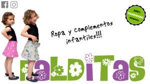 Fotografía publicitaria de dos niñas con ropa de la marca Falditas