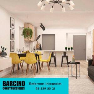 Fotografía publicitaria de salón reformado por Construcciones Barcino