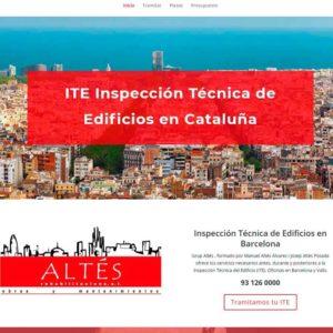 Captura de página web de ITE como ejemplo de diseño web