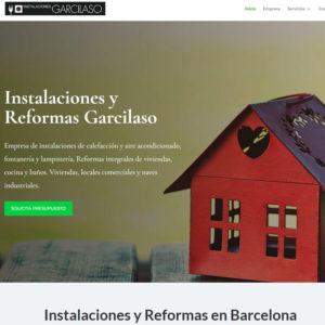 Captura de página web de empresa Instalaciones y Reformas Garcilaso como ejemplo de diseño web