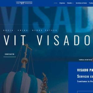 Captura de página web de la empresa VIT Visados como ejemplo de página web para empresas